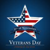 Le jour de vétérans des Etats-Unis avec l'étoile dans le drapeau national colore le drapeau américain Honorant tous ce qui ont se illustration de vecteur