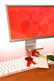 Le jour de Valentine au bureau Photo stock