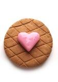 Le jour de Valentine Coeur rouge-rose doux de massepain Image libre de droits