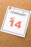 Le jour de Valentine de calendrier Image stock