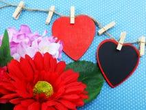 Le jour de valentine de fond d'amour et de coeur Photo libre de droits
