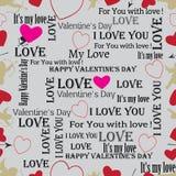 Le jour de Valentine de fond Vecteur Photographie stock libre de droits
