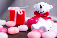 Le jour de Valentine Ours blanc Photo stock