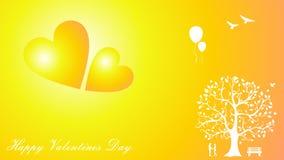 Le jour de valentines heureux couple le papier peint d'amour Photos libres de droits