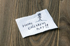 Le jour des enfants heureux Photos libres de droits