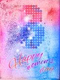 Le jour des femmes de fond 8 mars Photo stock