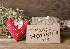 Le jour des femmes heureuses Photographie stock
