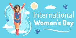 Le jour des femmes internationales illustration de vecteur
