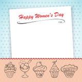Le jour des femmes internationales de carte Images stock