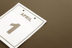 Le jour des imbéciles de calendrier Photos libres de droits