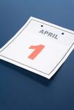 Le jour des imbéciles de calendrier Photos stock