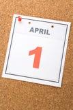 Le jour des imbéciles de calendrier Image libre de droits