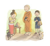 Le jour du bouddhiste illustration stock