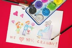 Le jour du grand-mère Image stock
