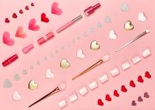 Le jour du ` s de Valentine composent le fond Photos libres de droits