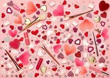 Le jour du ` s de Valentine composent le fond Image libre de droits