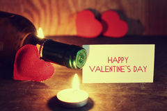 Le jour du ` s de Valentine mire le vin Image libre de droits