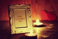 Le jour du ` s de Valentine mire le vin Photo stock