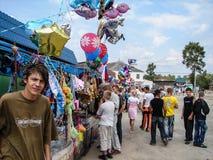 Le jour du village dans la région de Kaluga de la Russie Image libre de droits