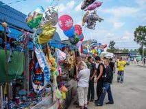 Le jour du village dans la région de Kaluga de la Russie Photos stock