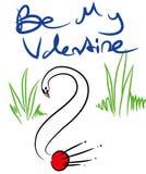 Le jour et on de valentines demandent illustration stock