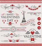 Le jour et le mariage du ` s de Valentine conçoivent des éléments illustration de vecteur