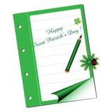 Le jour heureux de Patrick de saint Photographie stock