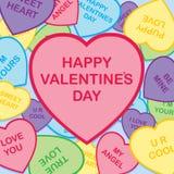 Le jour heureux de Valentine Photographie stock