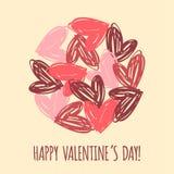 Le jour heureux de Valentine Images stock