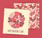 Le jour heureux de Valentine Photo libre de droits