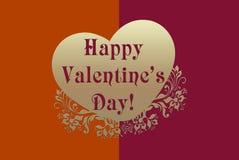 Le jour heureux de Valentine Photos libres de droits