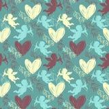 Le jour heureux de Valentine Configuration sans joint Photos stock