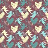 Le jour heureux de Valentine Configuration sans joint Images libres de droits