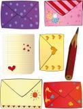Le jour heureux de Valentine de lettres Photos libres de droits