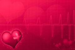 Le jour médical de Valentine Photo stock