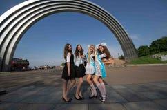 Le jour passé de l'école à Kiev Photo stock