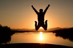 le jour positif est le début et la personne énergique image stock