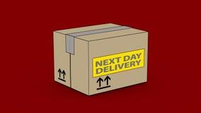 Le jour suivant la livraison illustration libre de droits