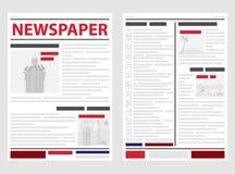 Le journal, les premières et dernières pages du journal Ligne d'actualités, actualités Images stock