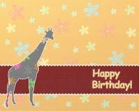 Le joyeux anniversaire badine le fond Photo libre de droits