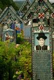 Le joyeux cimetière de Sapanta Photo libre de droits