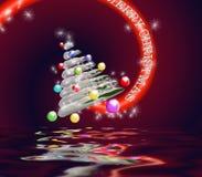 le joyeux espace de cristmas Photos stock