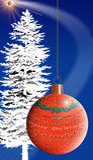 le joyeux espace de Noël Photos libres de droits
