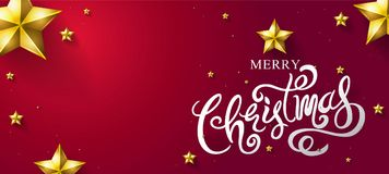 Le Joyeux Noël et la bonne année 2018, calligraphiques, dactylographient, Vecto Photographie stock