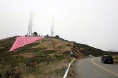 Le jumeau fait une pointe la triangle rose photographie stock libre de droits