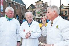 Le jury au marché de fromage à Alkmaar Photo libre de droits