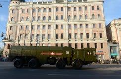Le 9K720 Iskander est un système de missile balistique à courte portée mobile Image libre de droits