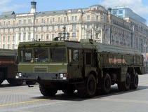 Le 9K720 Iskander est un système de missile balistique à courte portée mobile Photos libres de droits
