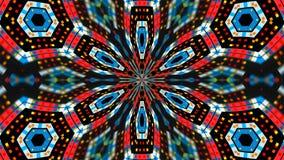 Le kaléidoscope abstrait de techlonogy de symétrie, 3d rendent le contexte, se produire d'ordinateur Photos libres de droits