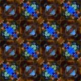 Le kaléidoscope de batik a modifié la tonalité des roses Images libres de droits